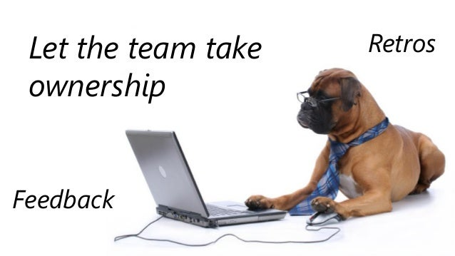 Let the team take ownership Retros Feedback