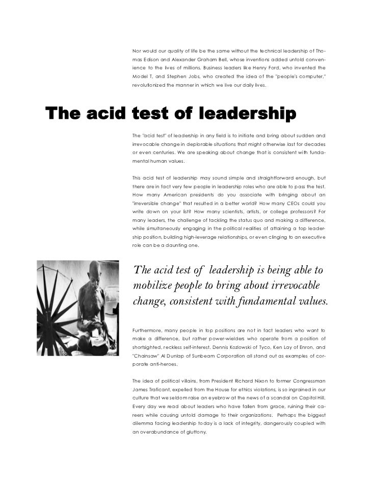 bringing about change essay