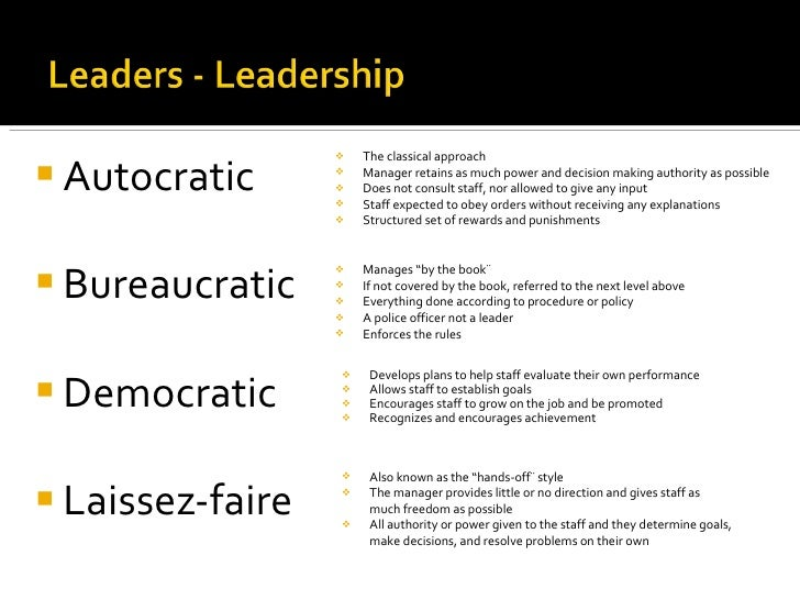 Autocratic leadership essay