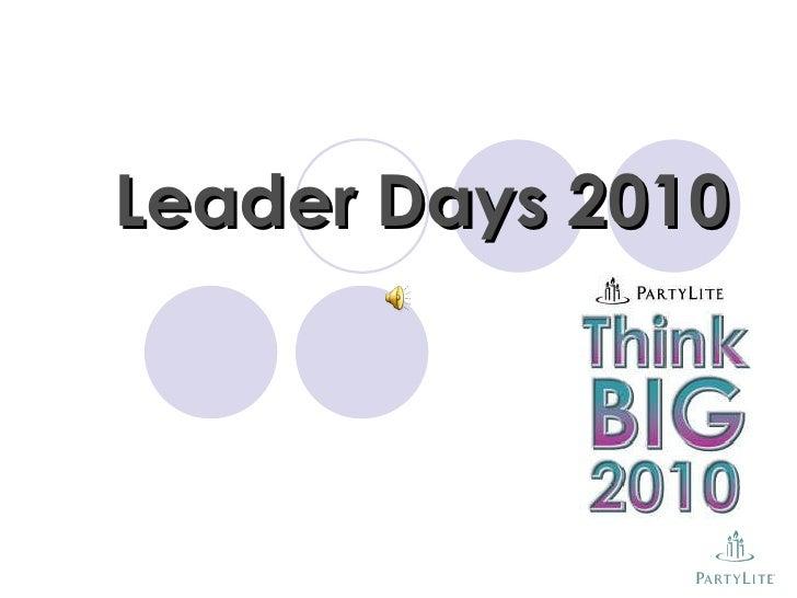 Leader Days 2010