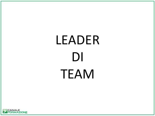 1 LEADER DI TEAM