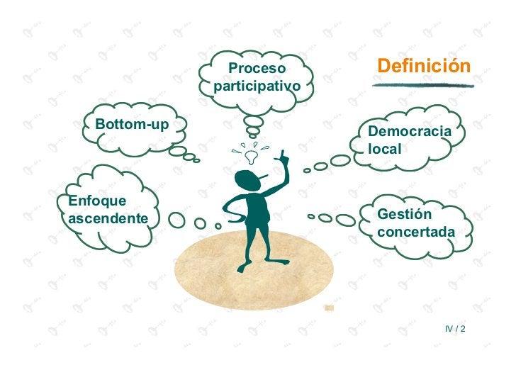 Proceso        Definición               participativo   Bottom-up                   Democracia                            ...