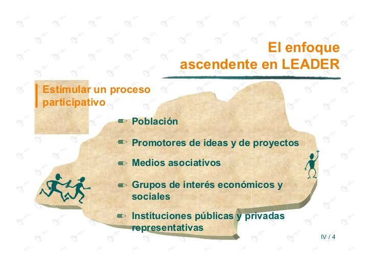El enfoque                           ascendente en LEADEREstimular un procesoparticipativo             ✏ Población        ...
