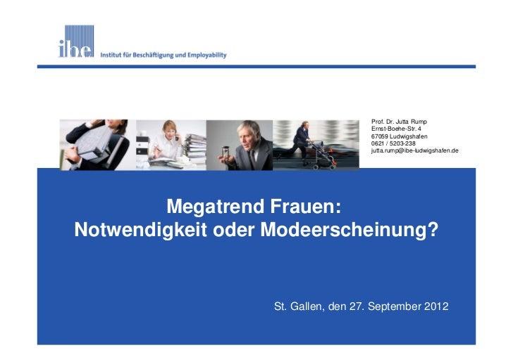 S1                                     Prof. Dr. Jutta Rump                                     Ernst-Boehe-Str. 4        ...