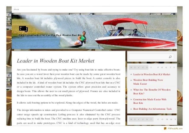 Leader in wooden boat kit market