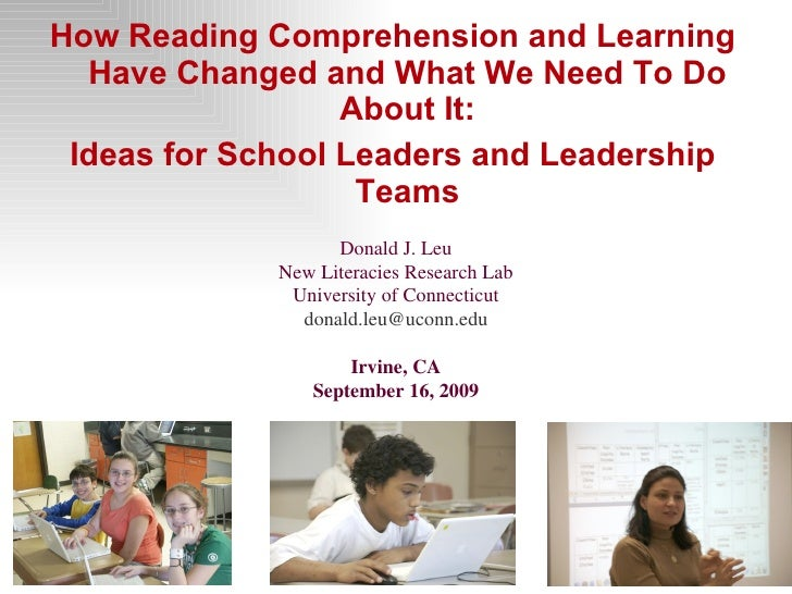 <ul><li>How Reading Comprehension and Learning Have Changed and What We Need To Do About It: </li></ul><ul><li>Ideas for S...