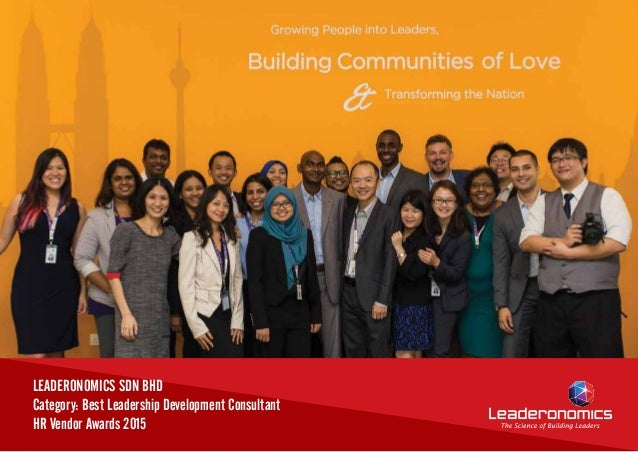 LEADERONOMICS SDN BHD Category: Best Leadership Development Consultant HR Vendor Awards 2015