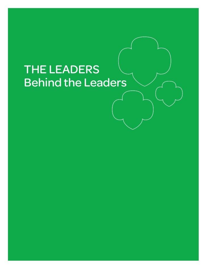 THE LEADERSBehind the Leaders                     1