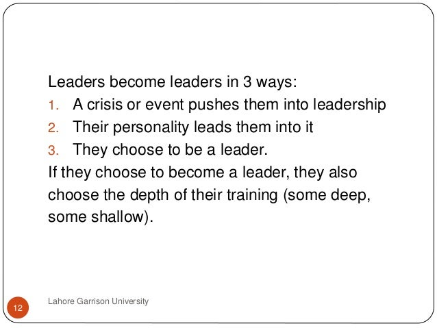 are leaders born or made by Introduction there has been a long time debate as people try to understand if leaders are actually born or they are made this debate has resulted in different lines of thoughts as some people are of the opinion that leaders are born while others are of the contrary opinion (anton 2004.