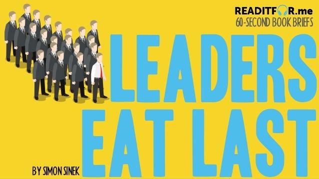 60-SECONDBOOKBRIEFS BYSIMONSINEK LEADERS EAT LAST