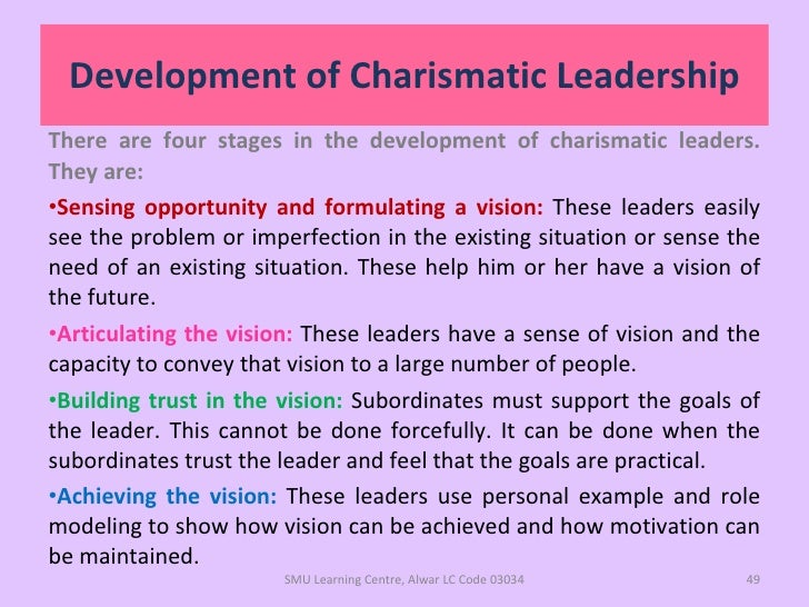 beyond charismatic leader Thus, weber's original definition highlights a distinction between charismatic magnetism, the extraordinary qualities of the leader, and charismatic leadership, which results from a complex equation in which a leader has extraordinary qualities that resonate powerfully with followers in a situation of extreme uncertainty.