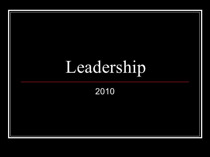 Leadership 2010