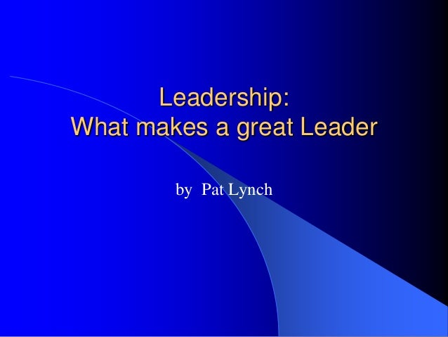 What Makes Leading 91
