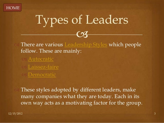 different leadership styles in different organisations Do you have a particular leadership style that you usually use  spain and this  post really helped us to understand the different leadership styles because we   leaderships should be effective for their organisation or team.