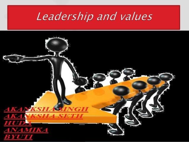 Leaders are not only the source but also themost important means of establishingorganizational values.Leaders not only set...
