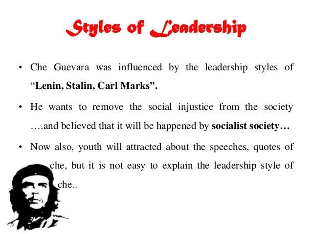 Che guevara leadership essay