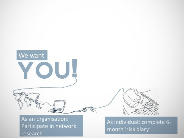 We wantYOU!As an organisation:                         As individual: complete 6-Participate in network                   ...