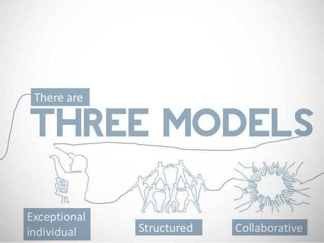 There areTHREE MODELSExceptionalindividual    Structured   Collaborative
