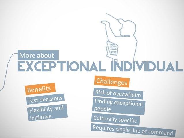 More aboutEXCEPTIONAL INDIVIDUAL