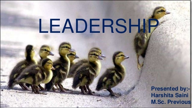 LEADERSHIP  Presented by:-  Harshita Saini  M.Sc. Previous