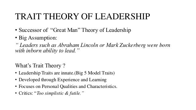 theory of personality in organizational behavior The organizational behavior was studied closely as we intended to examine the nature of the relationships of the parties involved.