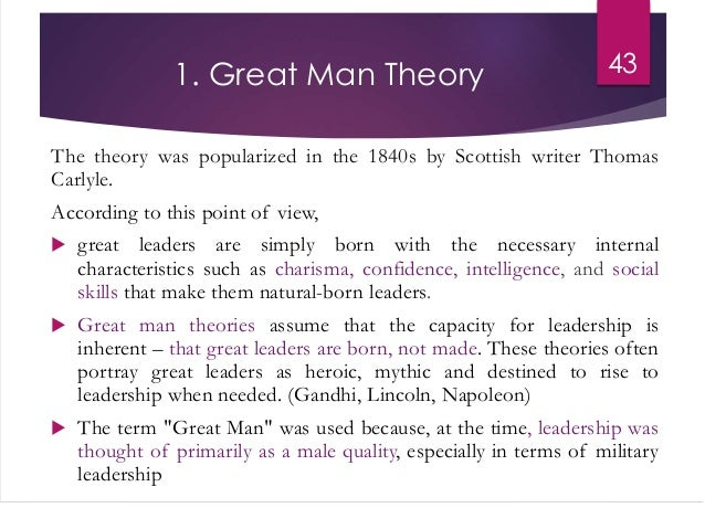 Great man theory of leadership essay