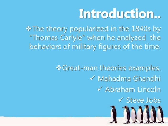 great man theory examples