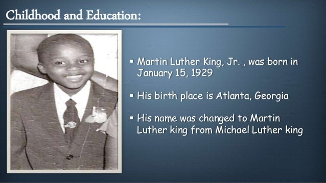 Facts About Martin Luther King Jr Childhood Resume