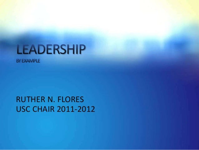 RUTHER N. FLORESUSC CHAIR 2011-2012