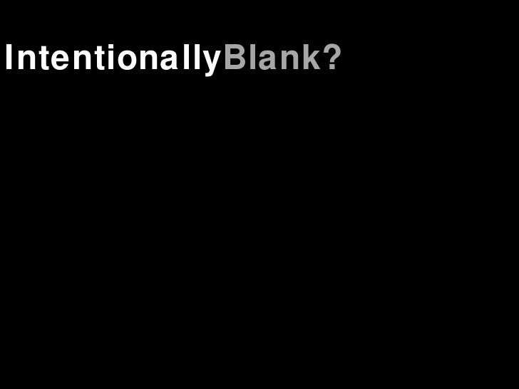 Intentionally Blank?