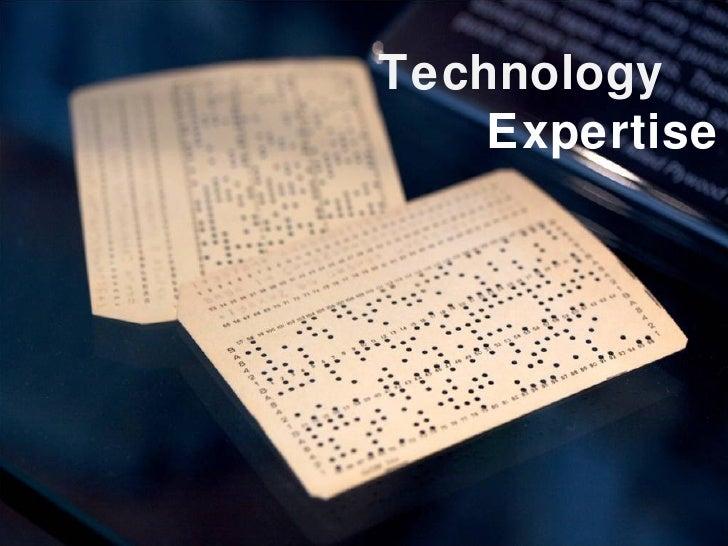 Technology Expertise
