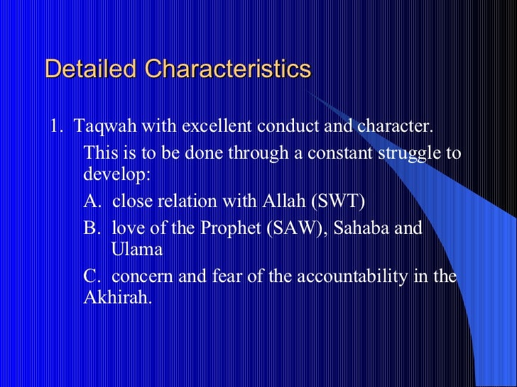 leadership in islam Leadership in the quran  #quran say about the concept of leadership in the community the first thing to note is that there is a leadership structure in islam.