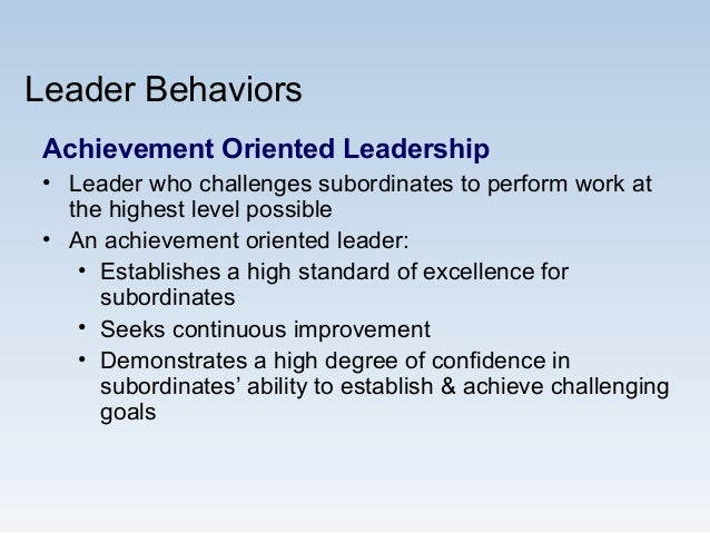Effective Leadership as Tool For Achieving Organisational Goals