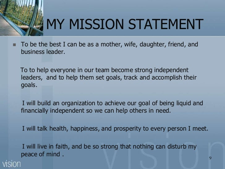 my leadership credo mission accomplishment And leadership can be a powerful tool for good let us help you chart a course to a deeper sense of purpose and mission to composing your personal credo.