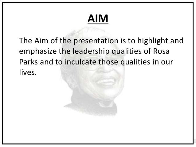 rosa parks leadership