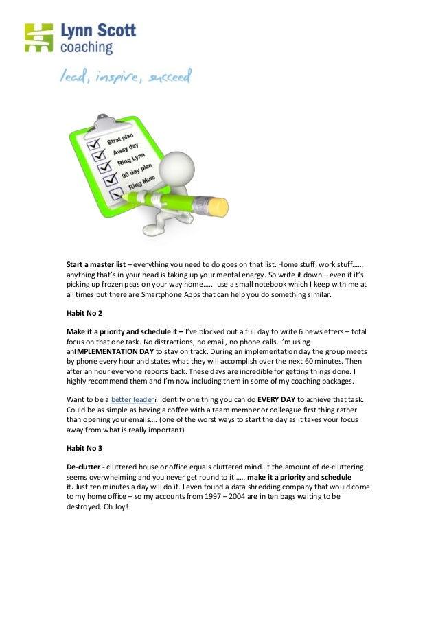 Leadership tips-4 little known habits to get focused Slide 2