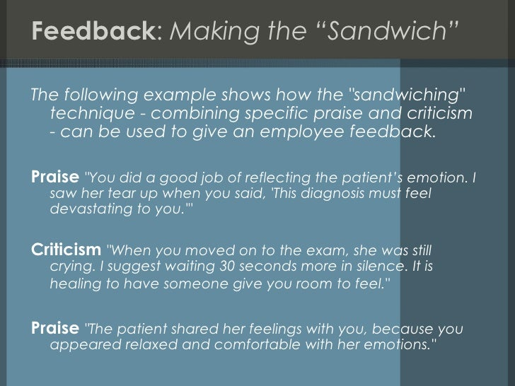 seminars followed by feedback The process that we use allows us to collect student feedback on your behalf,   article reading that members review before an informal presentation followed by   as part of the three-part seminar, participants will collect student feedback in.