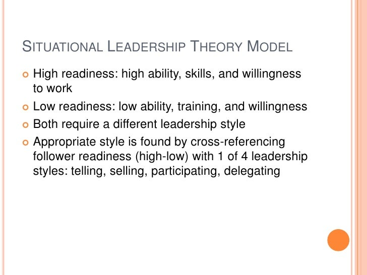 leadership   3 situational leadership theory