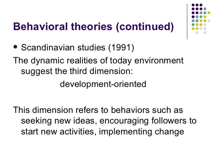 behavioral theory of leadership pdf