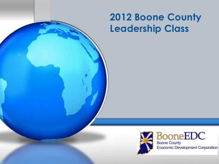 2012 Boone CountyLeadership Class