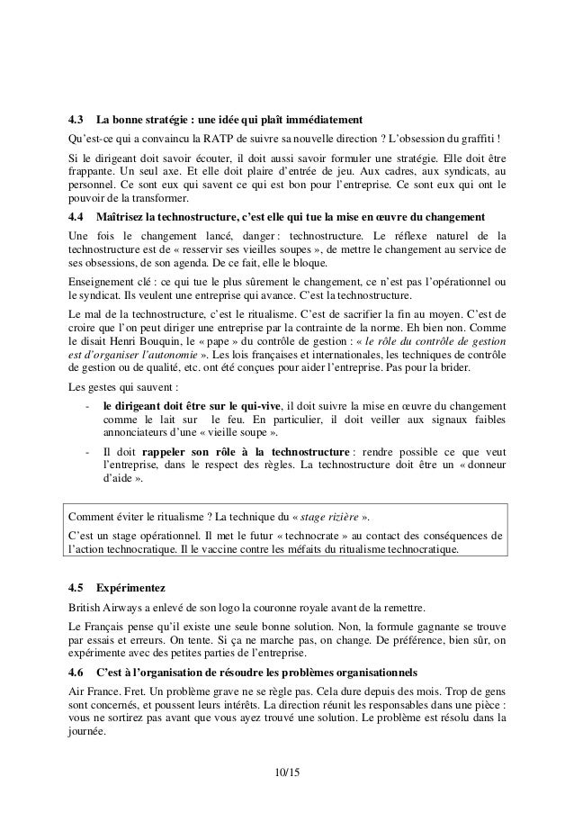 4.3 La bonne stratégie : une idée qui plaît immédiatement Qu'est-ce qui a convaincu la RATP de suivre sa nouvelle directio...
