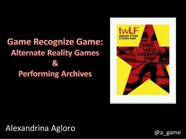 Alexandrina Agloro @a_game