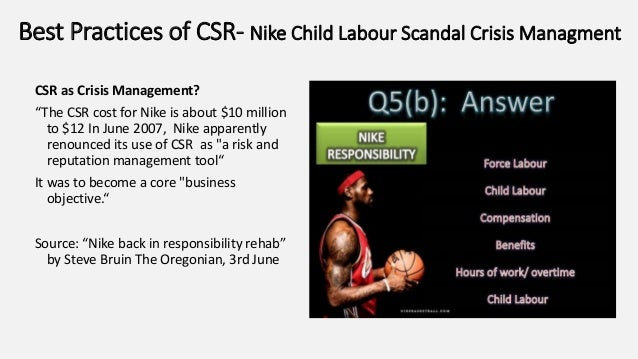 nike child labor scandal Police have rescued 14 children from a new delhi sweatshop at the centre of a scandal involving us  such is the prevalence of child labour in india's.
