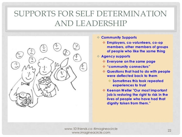 SUPPORTS FOR SELF DETERMINATION AND LEADERSHIP  Community Supports  Employers, co-volunteers, co-op members, other membe...