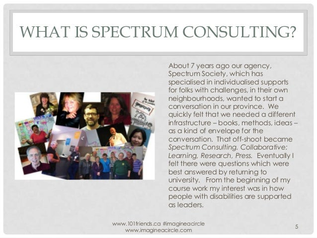 WHAT IS SPECTRUM CONSULTING? About 7 years ago our agency, Spectrum Society, which has specialised in individualised suppo...