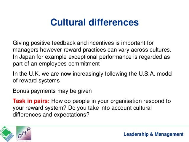 cultural differences important to managers at breadtalk Why successful leaders acknowledge cultural differences  and understanding  – cultural differences is more important than ever  different ways of life stands a  greater chance of being a more successful people manager.