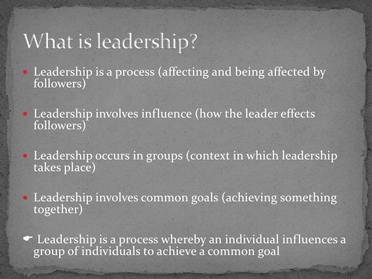 Dunham and pierce s leadership process model