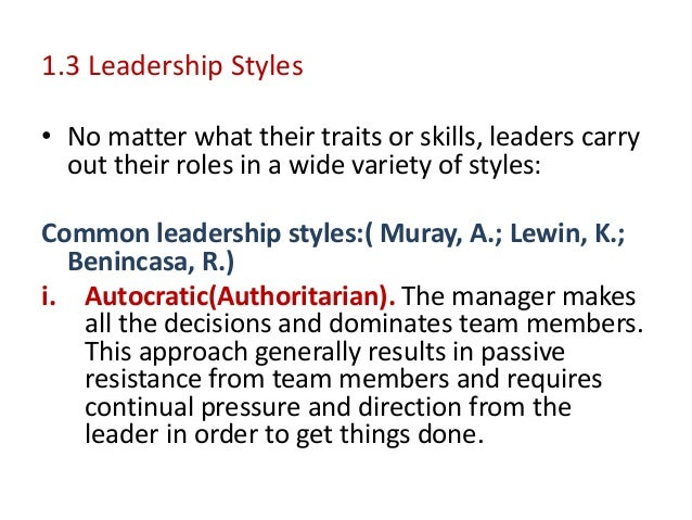 leadership styles in strategic management