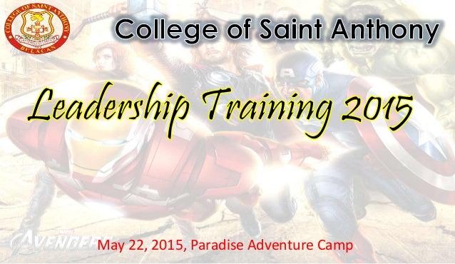 May 22, 2015, Paradise Adventure Camp