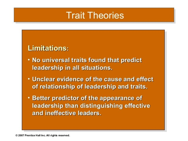 defining traits of a cause and effect relationship is implicit